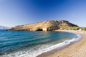 rocky seacoast - island of crete, greece