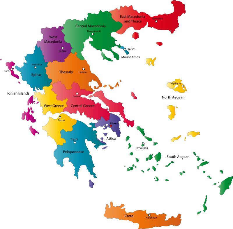 Greece Peripheries map