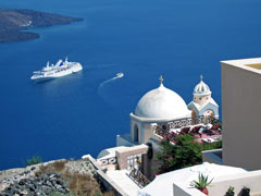 Greek islands cruise ship