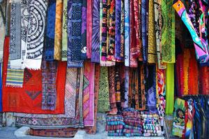 textiles for sale at the Monastiraki agora