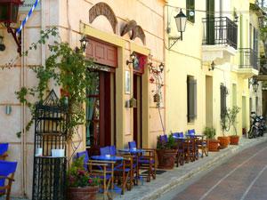 Plaka outdoor cafe, Athens